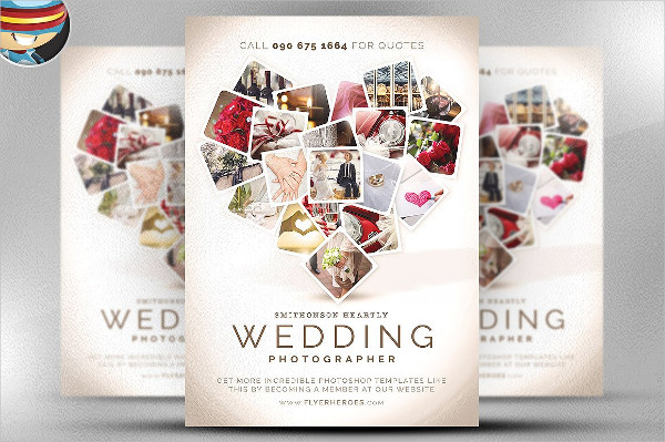 Professional Wedding Photographer Flyer Template