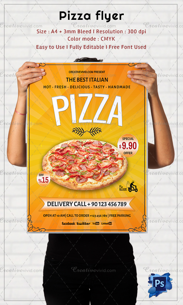 Well Designed Pizza Flyers Template