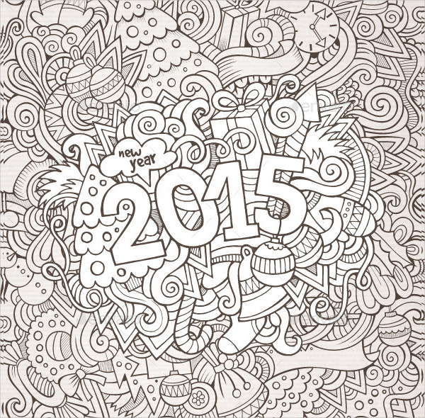 New Year Doodle Backgrounds