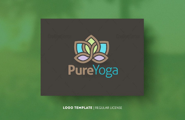 Pure Yoga Logo Template