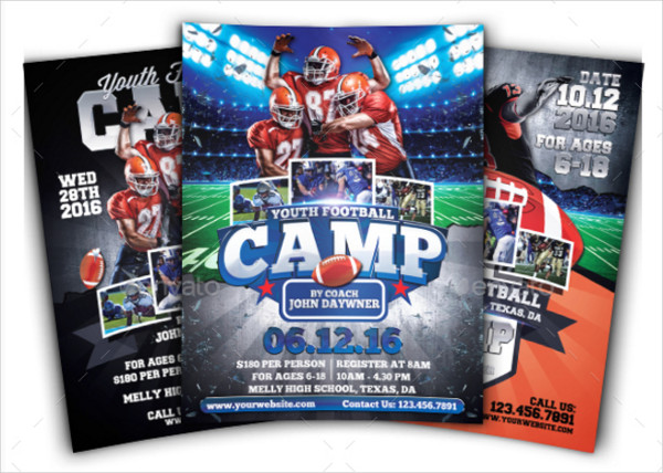 Youth Football Camp Flyers