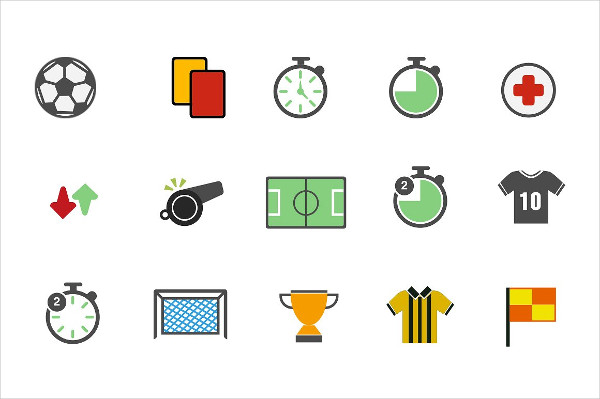15 Colorful Icons for Soccer
