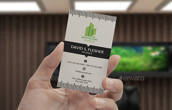 Professional Architect Business Card Template