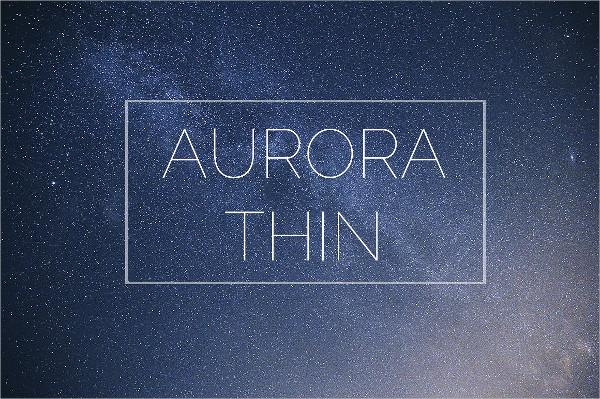 Aurora Thin Font