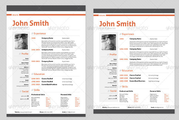 Best Selling Professional Resume Template