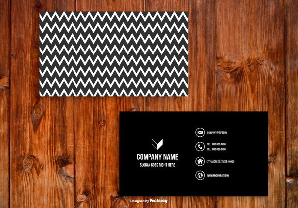 29 black business card templates free premium download free black and white chevron business card template accmission Gallery