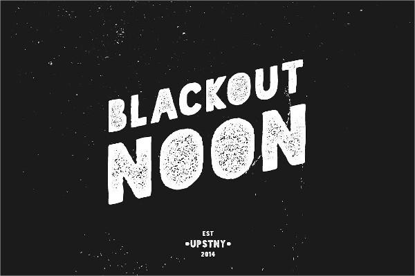 Blackout Noon Vintage Stencil Fonts