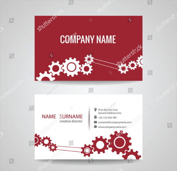 Business Card Template for Engineer and Mechanical