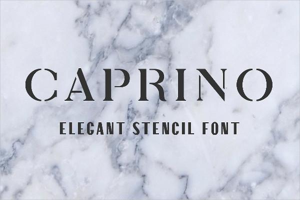 Caprino Elegant Stencil Fonts