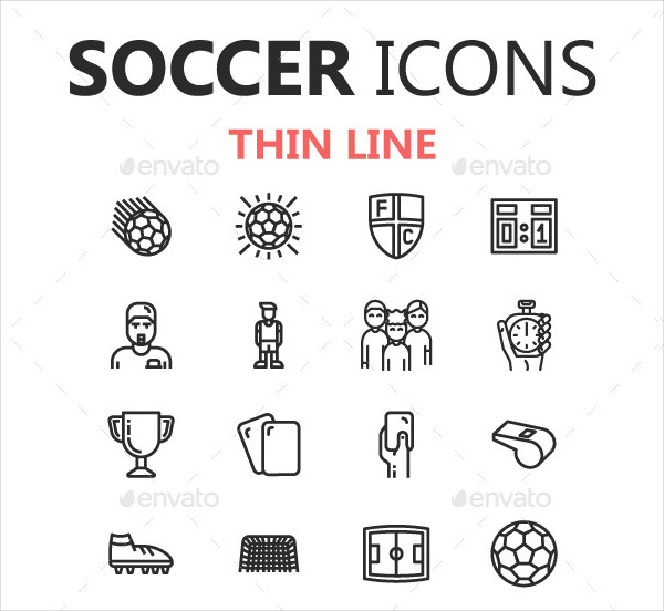 Soccer Championship Icons in 3 Styles