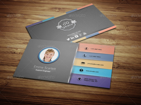 Civil Engineer Business Cards Template