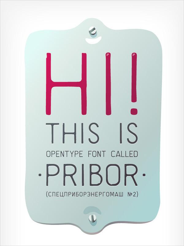 Clean Lo-Fi Stencil Font With Cyrillic