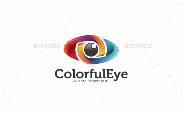 Colorful Eye Logo Design