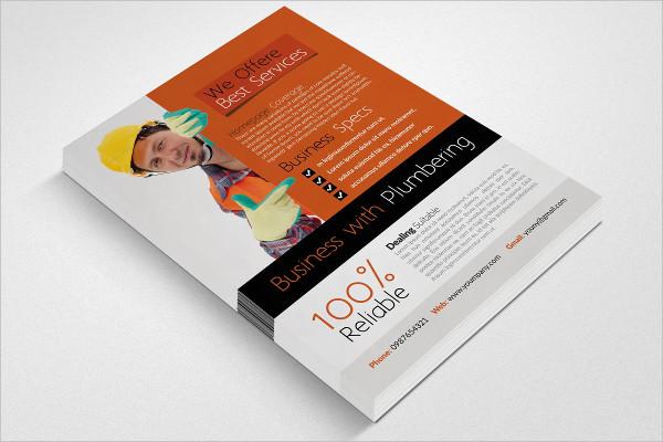 Premium Plumbing Business Flyer Template