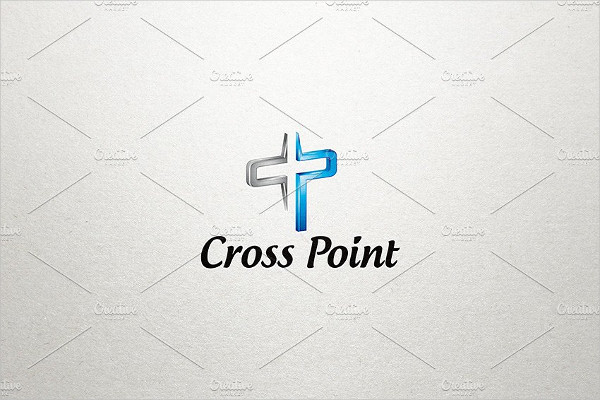 Cross Church Point Logo Design