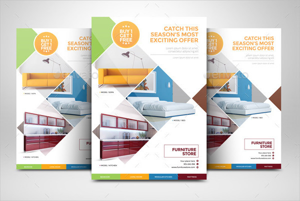 Rooms Furniture Flyer Template