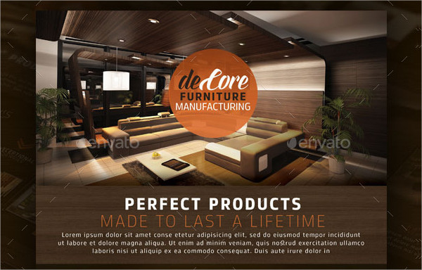 Decore Furniture Flyer Template