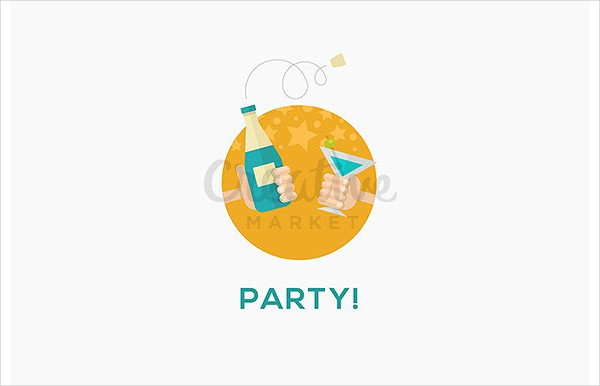 Party Icon in Flat Design