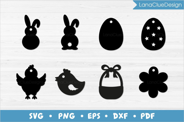 Easter Price Tags with Transparent Background