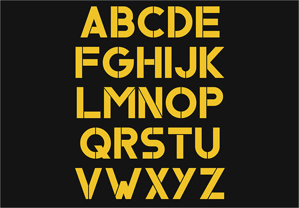 Best Font for Stencils