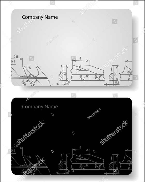 Structural Engineer Business Card Vector