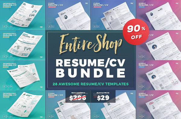 Entire Shop Resume Bundle