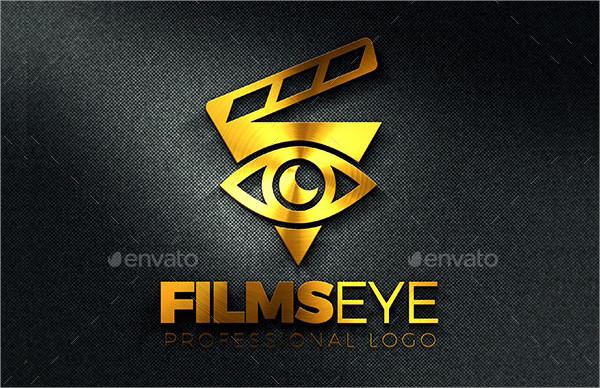 Films Eye Logo Design Template