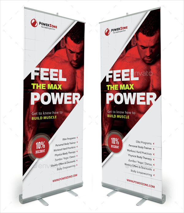 Sport Activity Roll-Up Banner Template