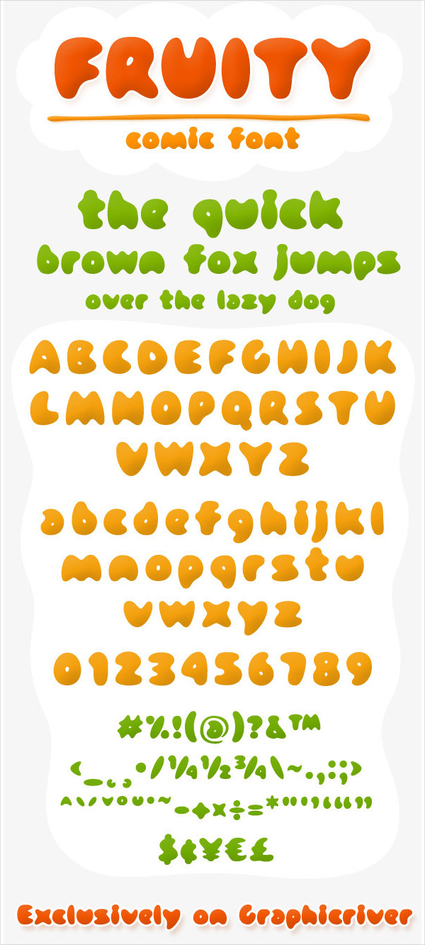 Fruity Comic Font