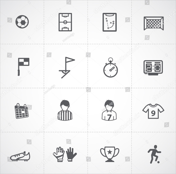 Soccer Game Icons Set
