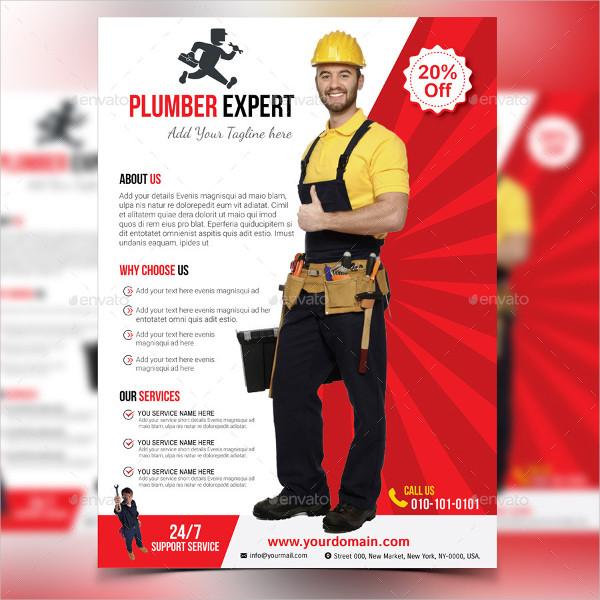 Print Ready Plumber Flyer Template Design