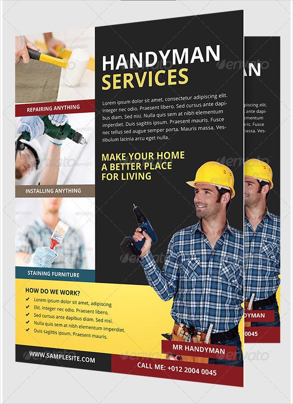 Handyman & Plumber Business Flyer Template
