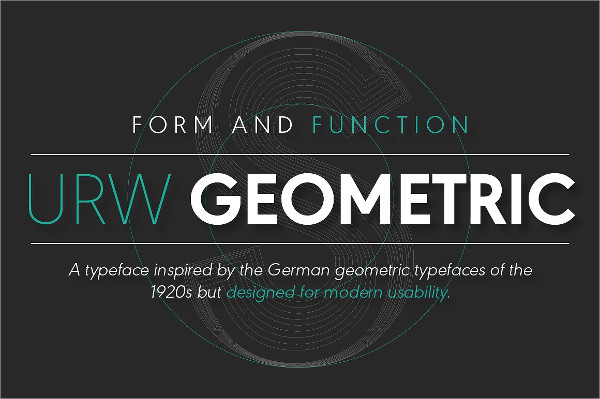 Geometric Thin Font