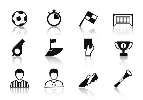 Free Soccer Icon Collection Vector