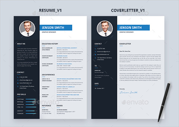 Graphic Designer Professional Resume Template