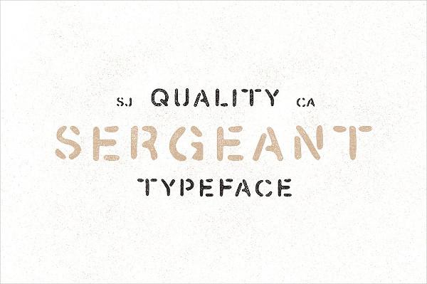 Cute Hand Drawn Stencil Font