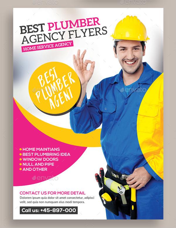 Best Plumber Agency Flyer Template