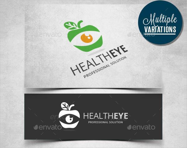 Professional Health Eye Logo Template