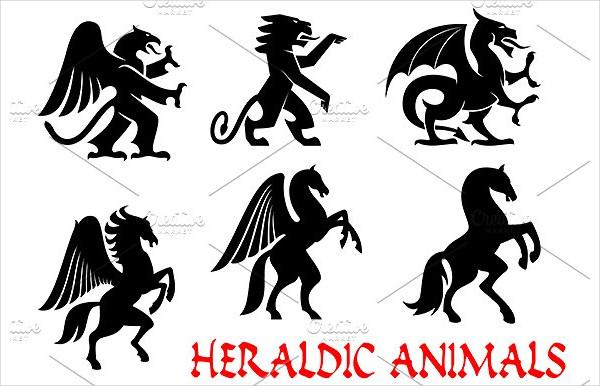 Heraldic Animals Tattoo Designs