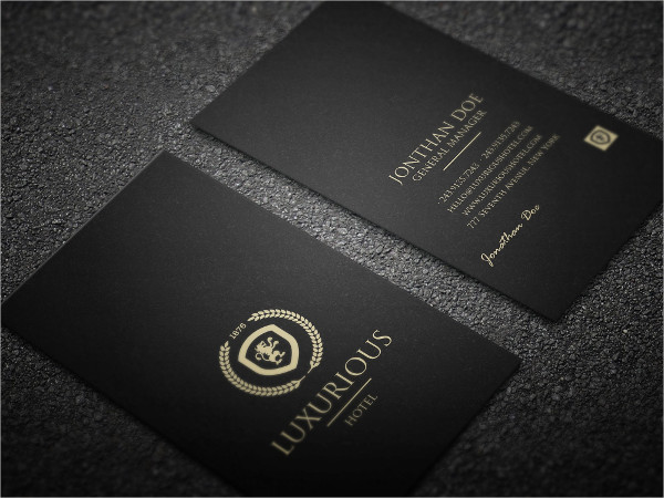 29 black business card templates free premium download luxurious hotel business card template friedricerecipe Image collections