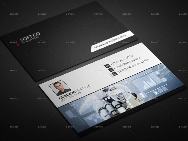 Network Engineer Business Card PSD