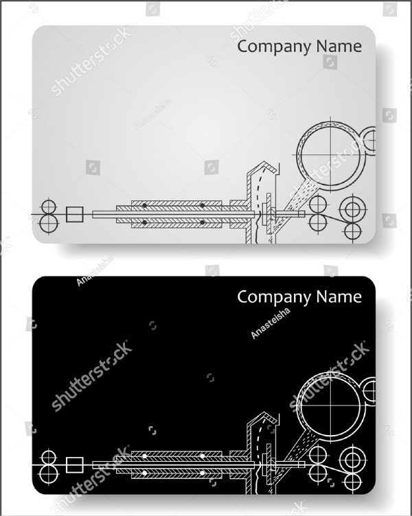 Modern Engineer Business Cards