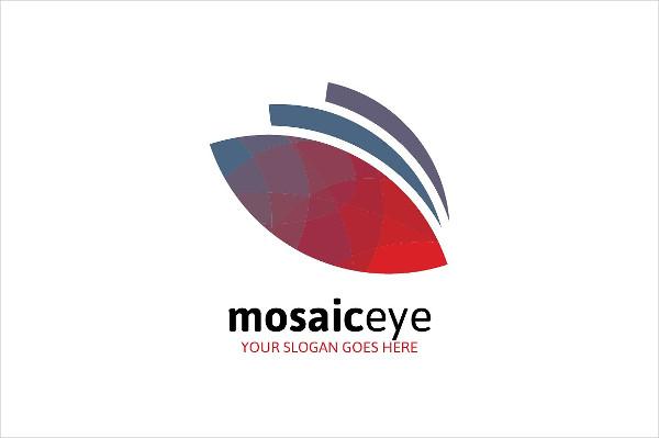 Mosaic Eye Logo Design for Business