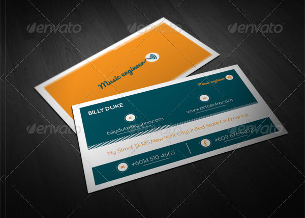Music Engineer Business Card Templates