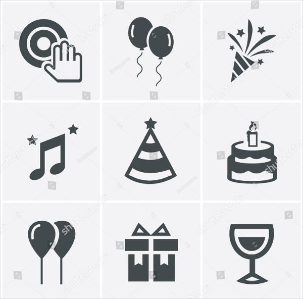Party Event Icons Vector Design