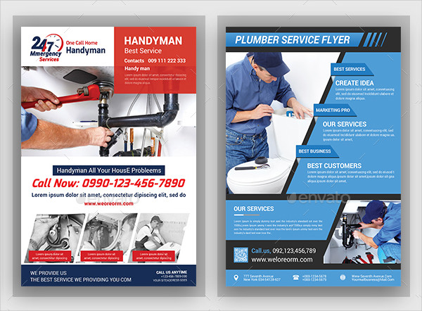 Awesome Plumber Service Flyers Bundle