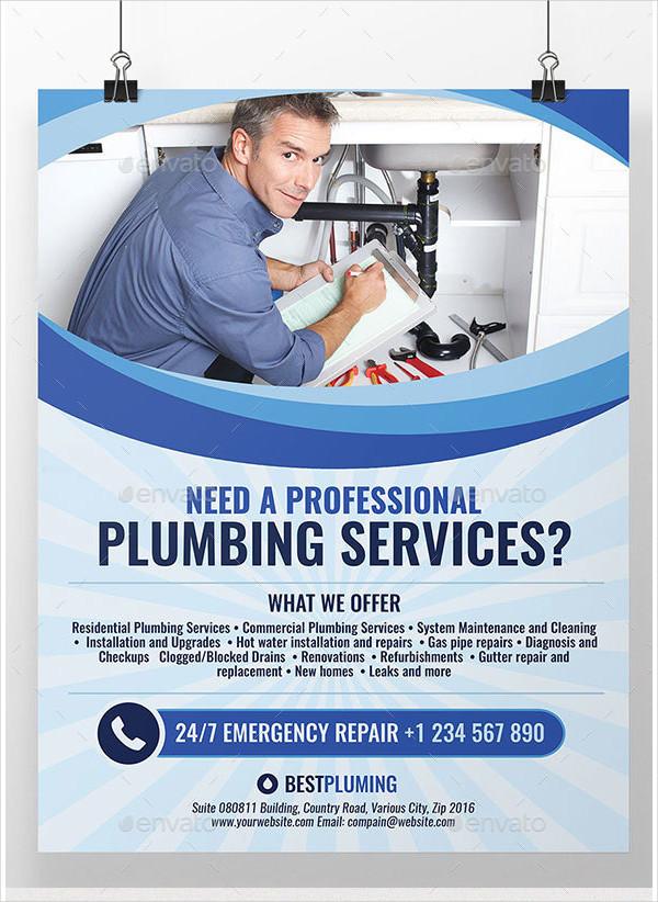 Simple Plumbing Flyer Template