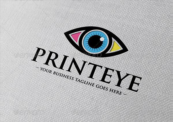 Print Eye Logo Template