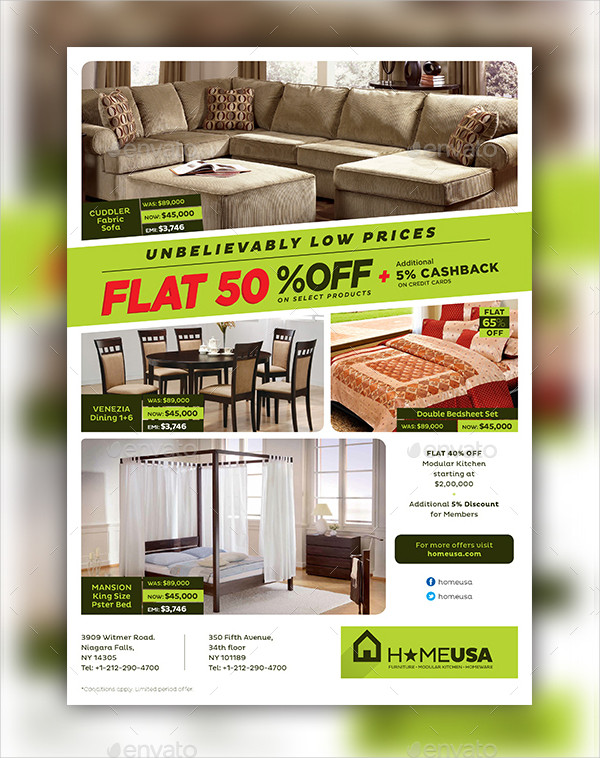 Professional Ashley Furniture Flyer Template