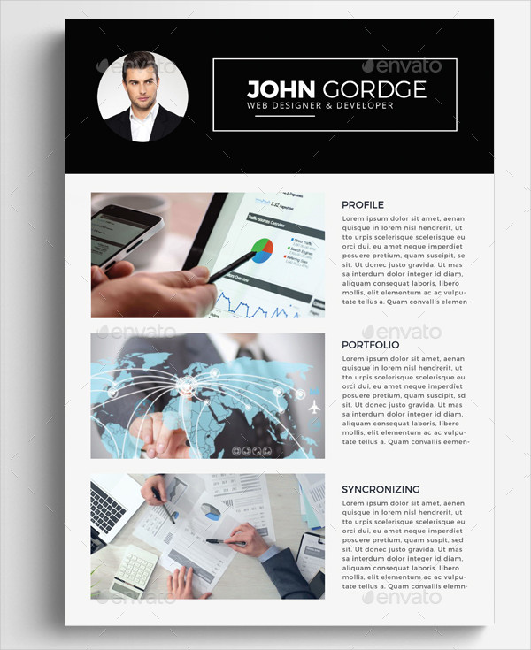 Professional Infographic Resume Template